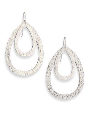 Stephanie Kantis Paris Double Teardrop Earrings In Silver