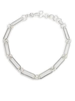 Stephanie Kantis Courtly Link Necklace In Silver