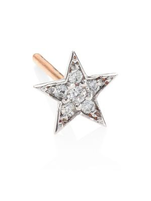 Kismet By Milka Heroine Star Diamond & 14K Rose Gold Stud Earrings