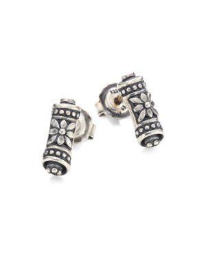 Konstantino Penelope Sterling Silver Scroll Earrings