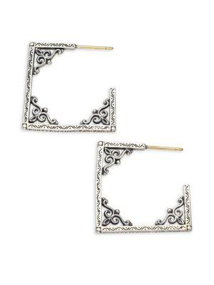 Konstantino Penelope Sterling Silver Window Hoop Earrings