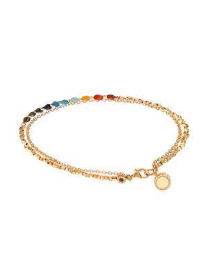 Astley Clarke Biography Semi-Precious Multi-Stone & White Sapphire Cosmos Beaded Friendship Bracelet In Gold-Multi