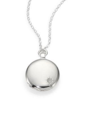 Astley Clarke Sterling Silver Astley Locket Necklace