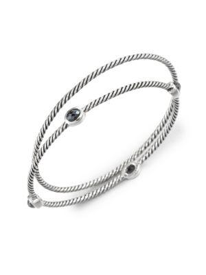 David Yurman Color Classics Bangles In Hematite