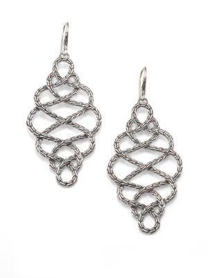 John Hardy Classic Chain Sterling Silver Braided Drop Earrings