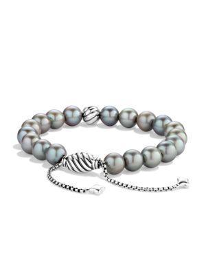 David Yurman Spiritual Beads Bracelet With Pearls In Grey Pearl