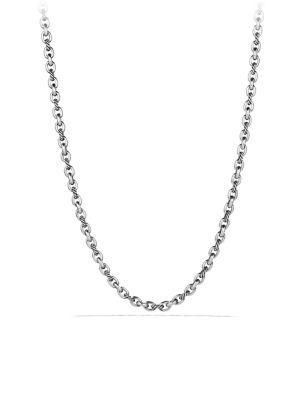 David Yurman Oval Link Necklace In Silver