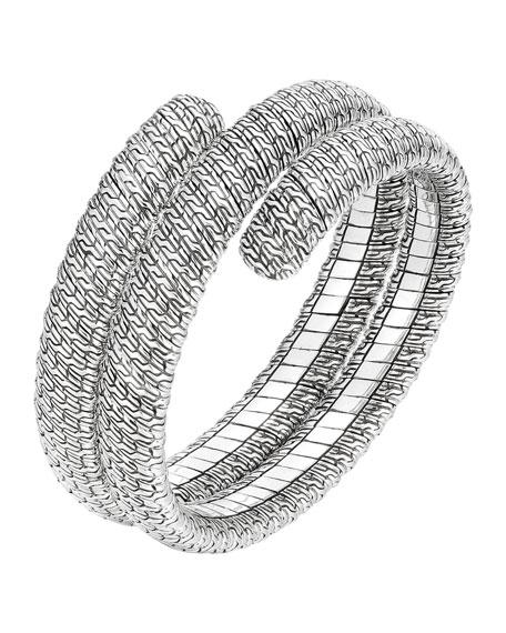 John Hardy Classic Chain Silver Double Coil Bracelet