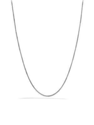 David Yurman Baby Box Chain Necklace With Gold In Silver