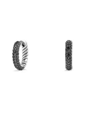 David Yurman Petite Pave Earrings With Black Diamonds