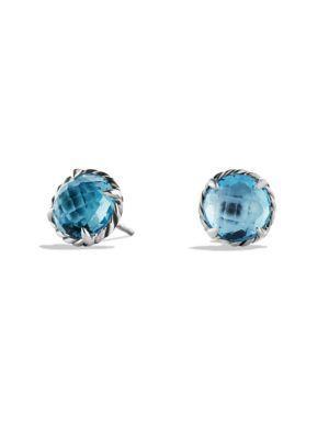 David Yurman ChÂTelaine® Gemstone Earrings In Blue Topaz