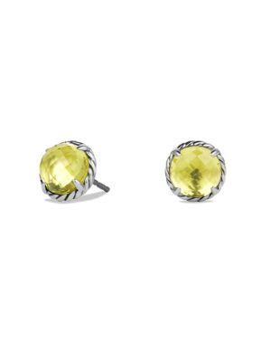David Yurman ChÂTelaine® Gemstone Earrings In Lemon Citrine