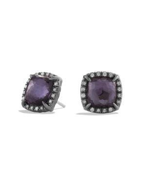 David Yurman ChÂTelaine® Diamond, Amethyst And Sterling Silver Earrings