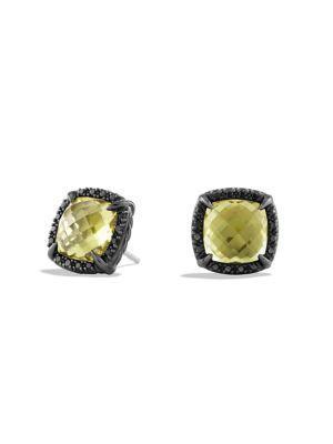 David Yurman ChÂTelaine Earrings With Diamonds In Lemon Citrine
