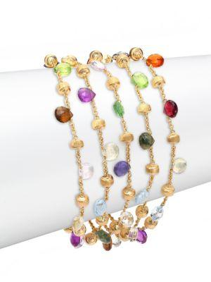 Marco Bicego Paradise Semi-Precious Multi-Stone & 18K Yellow Gold Multi-Strand Bracelet In Gold-Multi