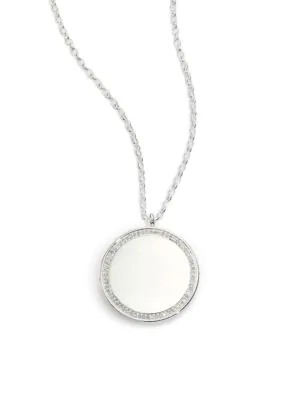 Astley Clarke Cosmos Diamond & Sterling Silver Medium Locket Necklace