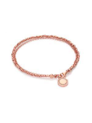 Astley Clarke Biography White Sapphire Cosmos Beaded Friendship Bracelet In Rose Gold