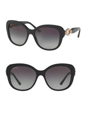 Bvlgari 57Mm Square Sunglasses In Black