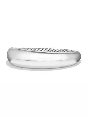 David Yurman Pure Form Smooth Bracelet In Sterling Silver