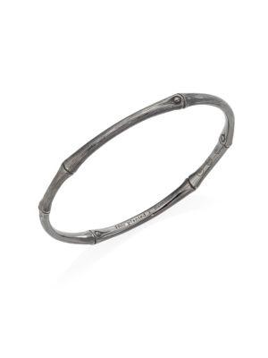 John Hardy Bamboo Sterling Silver Bangle Bracelet In Silver Brushed