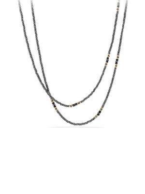 David Yurman Cable Berries 18K Yellow Gold, Hematine & Black Onyx Tweejoux Necklace