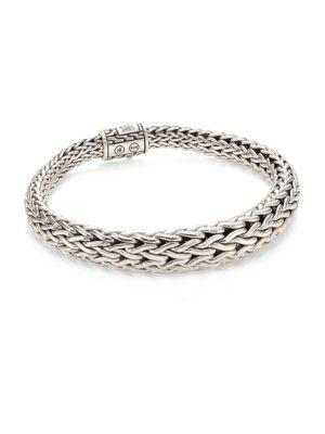 John Hardy Classic Chain Silver Graduated Bracelet