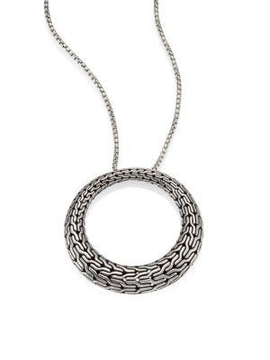 John Hardy Classic Chain Sterling Silver Graduated Pendant Necklace