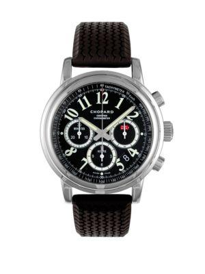 Chopard Mille Miglia Chronograph Stainless Steel & Rubber Strap Watch In Black