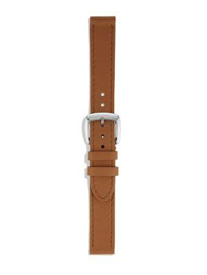 David Yurman Albion Leather Watch Strap In Saddle