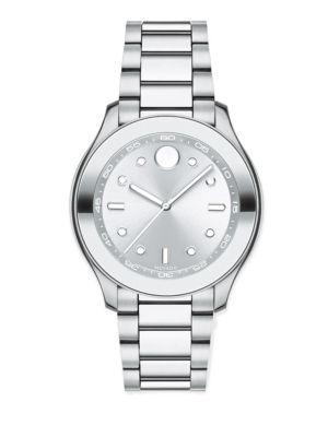 Movado Bold Stainless Steel Bracelet Sport Watch In Silver