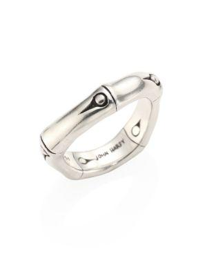 John Hardy Bamboo Polished Sterling Silver Curved Band Ring