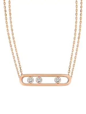 7139ca1eb8d734 Messika 'Move PavÉ' Diamond 18K Rose Gold Necklace | ModeSens