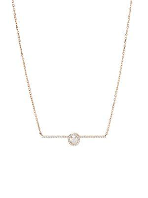 Messika Glam'Azone Diamond & 18K Pink Gold Pendant Necklace In Rose Gold