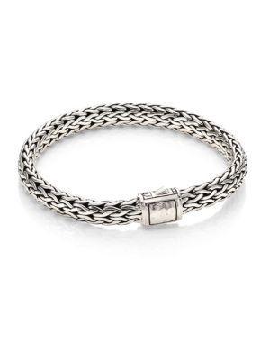 John Hardy Classic Chain Medium Hammered Sterling Silver Chain Bracelet