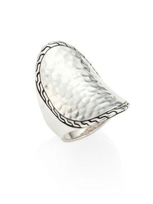 John Hardy Classic Chain Hammered Sterling Silver Oval Ring