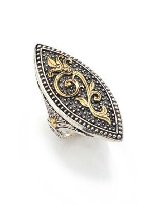 Konstantino Hebe 18K Yellow Gold & Sterling Silver Marquise Ring In Silver-Gold