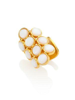 Stephanie Kantis Groove Coin Moonstone Ring In Gold-Moonstone