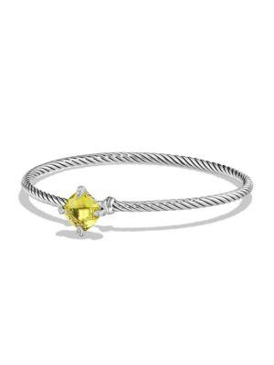 David Yurman Chatelaine Bracelet With Lemon Citrine And Diamonds