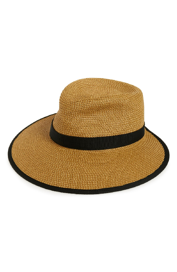 11f0ead85 'Sun Crest' Packable Hybrid Fedora Visor - Beige in Natural/ Black