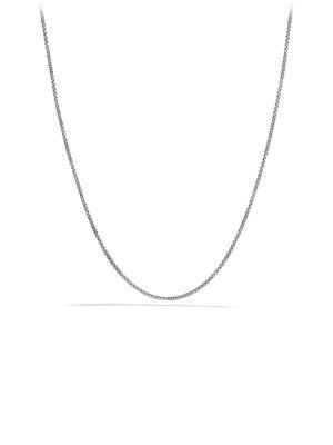 David Yurman Chain Necklace With Gold In Silver-Gold