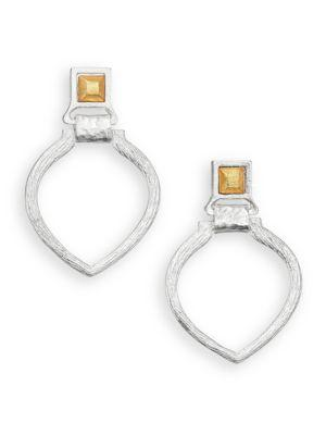 Stephanie Kantis Tier Doorknocker Earrings In Silver-Gold