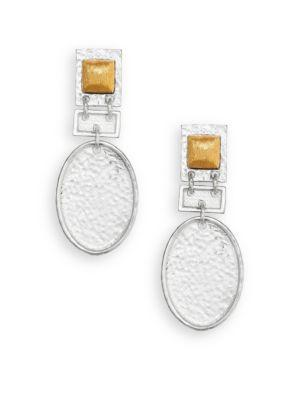 Stephanie Kantis Fascination Drop Earrings In Silver Gold