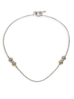 Konstantino Hebe 18K Yellow Gold & Sterling Silver Chain Necklace In Silver/ Gold