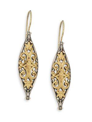Konstantino Hebe 18K Yellow Gold & Sterling Silver Drop Earrings In Gold-Silver