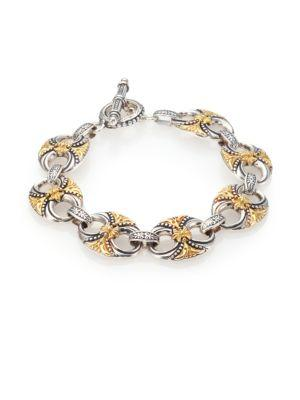 Konstantino Hebe 18K Yellow Gold & Sterling Silver Bracelet In Silver-Gold