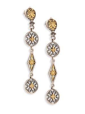 Konstantino Penelope 18K Yellow Gold & Sterling Silver Drop Earrings In Silver-Gold