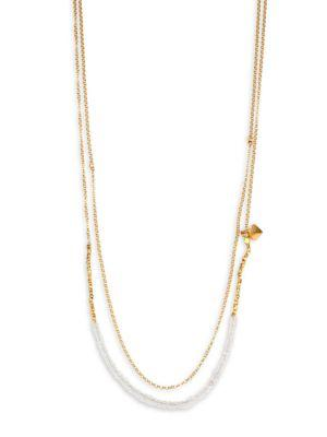 Astley Clarke Biography Moonstone Beaded Double-Strand Necklace In Gold-Moonstone