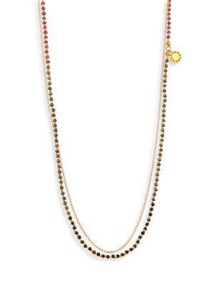Astley Clarke Purple Haze Degrade Biography Necklace In Gold-Multi