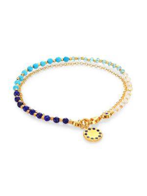 Astley Clarke Ocean Degrade Biography Bracelet In Gold-Ocean