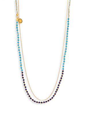 Astley Clarke Ocean Degrade Biography Necklace In Gold-Ocean